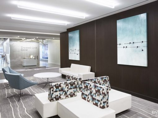Trammell Crow Center - Dallas, TX • Design Firm: ENTOS Design • Artist: Chris Judy